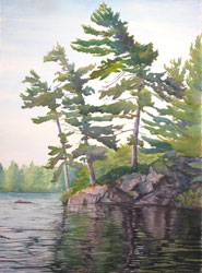 Watercolor painting O Canada #2