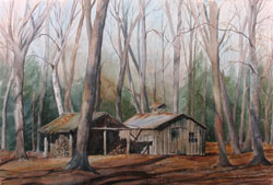Watercolor painting Sugar Shack
