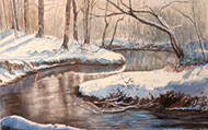 watercolour Don River in Winter