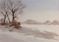 watercolour  Winter Light
