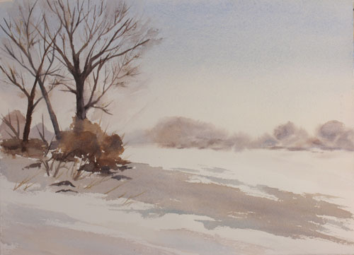 Winter Snow And Ice Paintings By Debbie Homewood