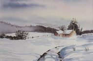 watercolour  Winter Seclusion