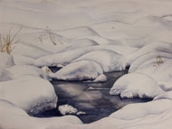 watercolour snow pool