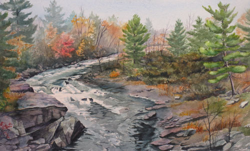 Landscape And Farm Fall Watercolor Paintings Debbie Homewood